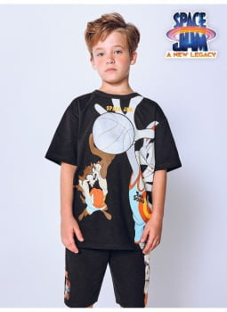 T-Shirt Space Jam Black