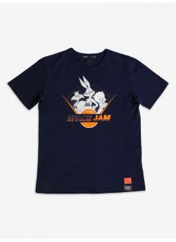 T-Shirt Space Jam Marinho